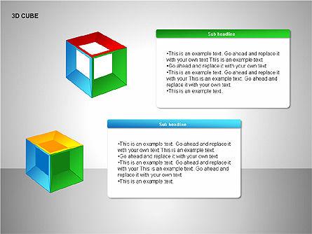 3D Cubes Collection, Slide 8, 00133, Shapes — PoweredTemplate.com