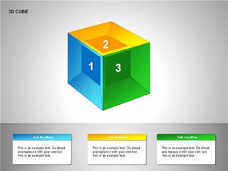 3D Cubes Collection, Slide 9, 00133, Shapes — PoweredTemplate.com