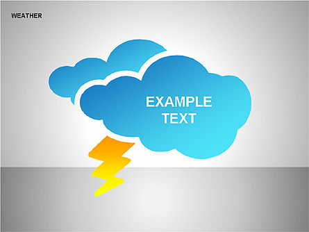 Weather & Forecast Shapes Collection, Slide 11, 00134, Shapes — PoweredTemplate.com