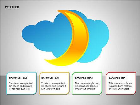 Weather & Forecast Shapes Collection, Slide 12, 00134, Shapes — PoweredTemplate.com