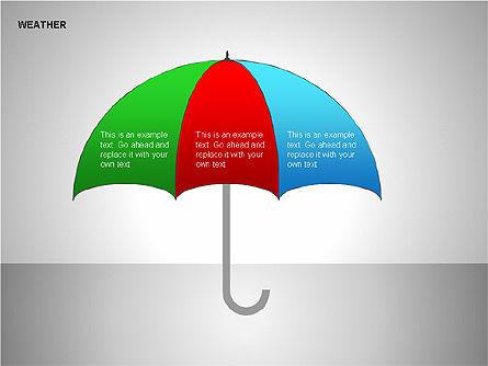 Weather & Forecast Shapes Collection, Slide 15, 00134, Shapes — PoweredTemplate.com
