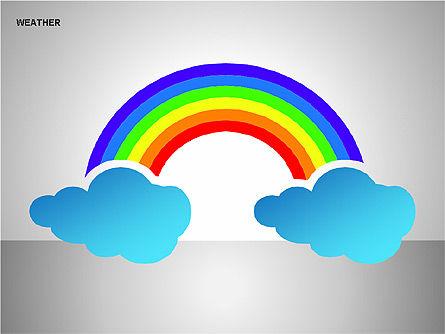 Weather & Forecast Shapes Collection, Slide 6, 00134, Shapes — PoweredTemplate.com