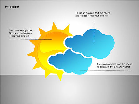 Weather & Forecast Shapes Collection, Slide 8, 00134, Shapes — PoweredTemplate.com