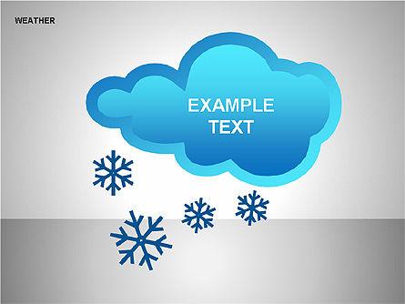 Weather & Forecast Shapes Collection, Slide 9, 00134, Shapes — PoweredTemplate.com