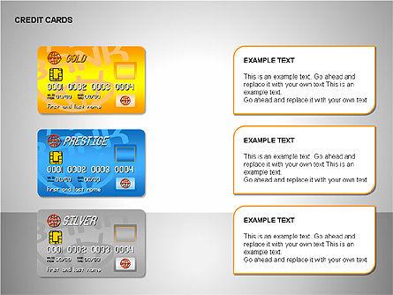 Credit Cards Shapes Collection, Slide 10, 00135, Shapes — PoweredTemplate.com
