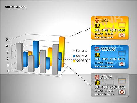Credit Cards Shapes Collection, Slide 11, 00135, Shapes — PoweredTemplate.com