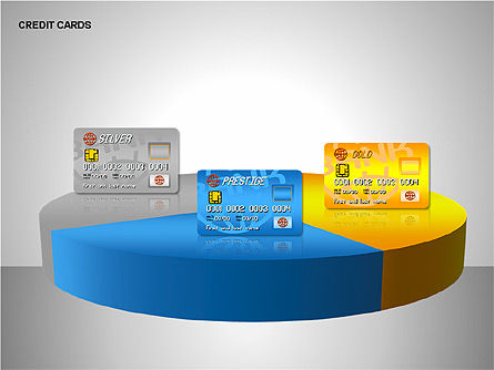 Credit Cards Shapes Collection, Slide 12, 00135, Shapes — PoweredTemplate.com