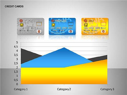 Credit Cards Shapes Collection, Slide 13, 00135, Shapes — PoweredTemplate.com