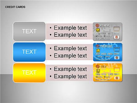 Credit Cards Shapes Collection, Slide 14, 00135, Shapes — PoweredTemplate.com