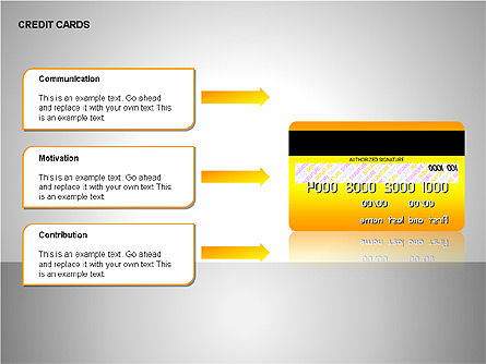 Credit Cards Shapes Collection, Slide 15, 00135, Shapes — PoweredTemplate.com