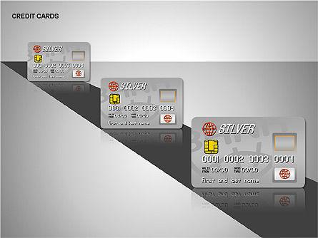 Credit Cards Shapes Collection, Slide 2, 00135, Shapes — PoweredTemplate.com