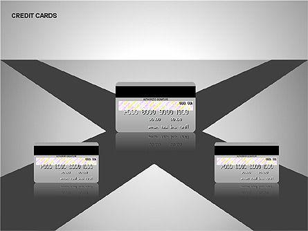 Credit Cards Shapes Collection, Slide 3, 00135, Shapes — PoweredTemplate.com