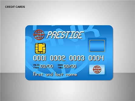 Credit Cards Shapes Collection, Slide 4, 00135, Shapes — PoweredTemplate.com