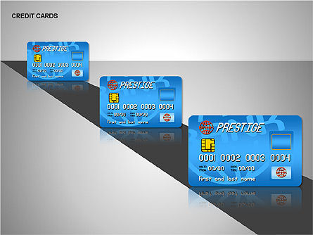 Credit Cards Shapes Collection, Slide 5, 00135, Shapes — PoweredTemplate.com