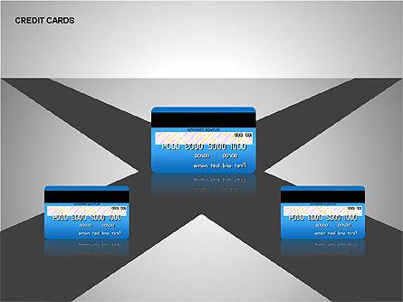 Credit Cards Shapes Collection, Slide 6, 00135, Shapes — PoweredTemplate.com