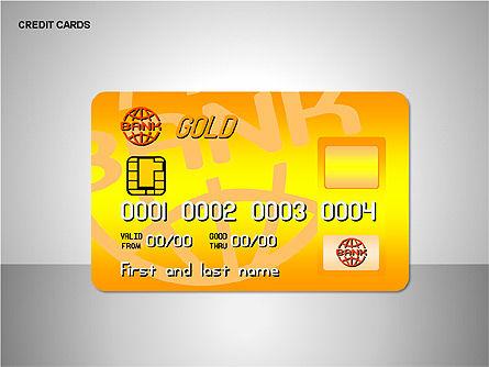 Credit Cards Shapes Collection, Slide 7, 00135, Shapes — PoweredTemplate.com