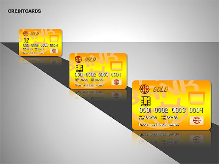 Credit Cards Shapes Collection, Slide 8, 00135, Shapes — PoweredTemplate.com