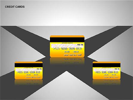 Credit Cards Shapes Collection, Slide 9, 00135, Shapes — PoweredTemplate.com