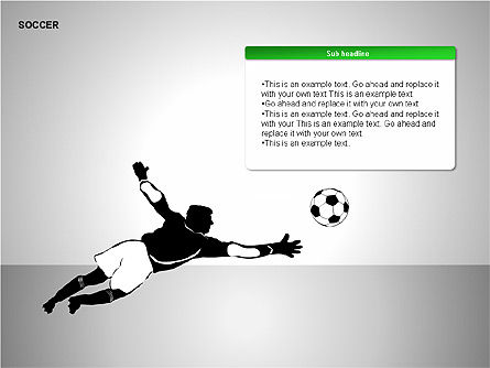Soccer Shapes Collection, Slide 12, 00137, Icons — PoweredTemplate.com