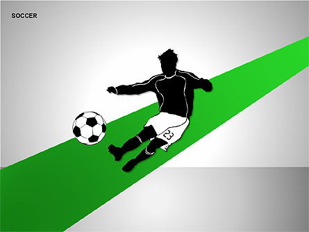 Soccer Shapes Collection, Slide 14, 00137, Icons — PoweredTemplate.com