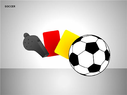 Soccer Shapes Collection, Slide 2, 00137, Icons — PoweredTemplate.com
