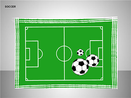 Soccer Shapes Collection, Slide 3, 00137, Icons — PoweredTemplate.com