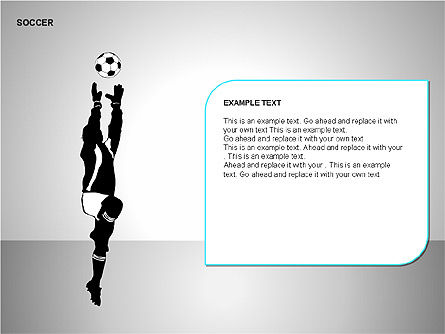 Soccer Shapes Collection, Slide 6, 00137, Icons — PoweredTemplate.com