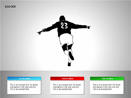 Soccer Shapes Collection, Slide 8, 00137, Icons — PoweredTemplate.com