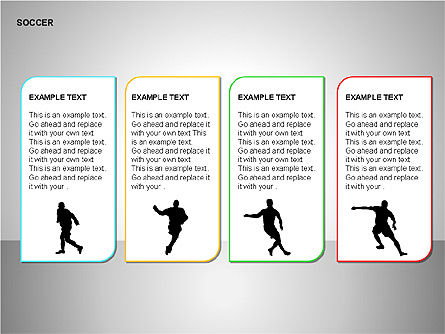 Soccer Shapes Collection, Slide 9, 00137, Icons — PoweredTemplate.com