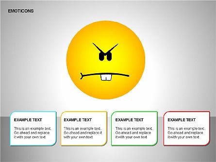 Emotion Icons, Slide 13, 00138, Shapes — PoweredTemplate.com