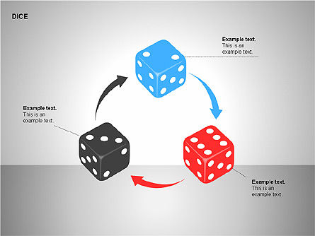 Free Dice Shapes Collection, Slide 10, 00139, Shapes — PoweredTemplate.com