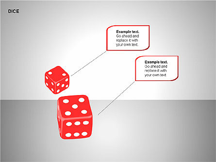 Free Dice Shapes Collection, Slide 11, 00139, Shapes — PoweredTemplate.com