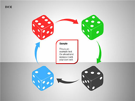 Free Dice Shapes Collection, Slide 12, 00139, Shapes — PoweredTemplate.com