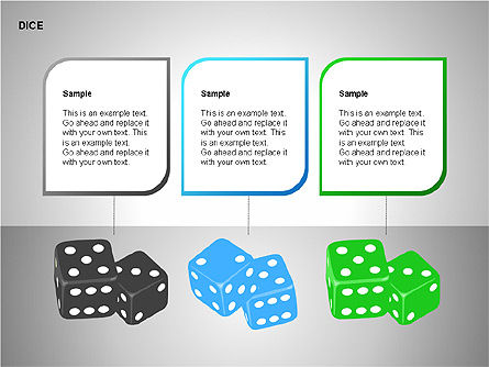 Free Dice Shapes Collection, Slide 13, 00139, Shapes — PoweredTemplate.com