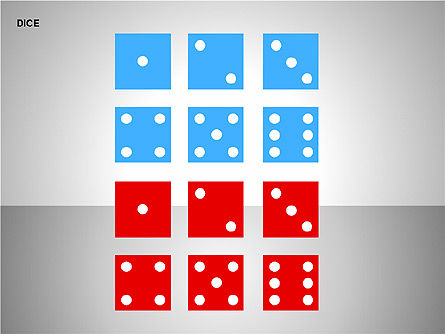 Free Dice Shapes Collection, Slide 14, 00139, Shapes — PoweredTemplate.com
