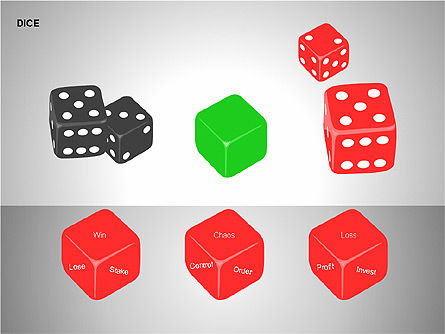 Free Dice Shapes Collection, Slide 15, 00139, Shapes — PoweredTemplate.com