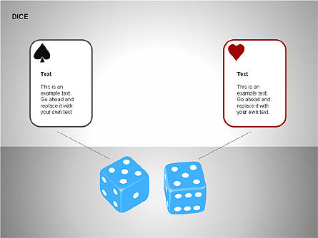 Free Dice Shapes Collection, Slide 4, 00139, Shapes — PoweredTemplate.com