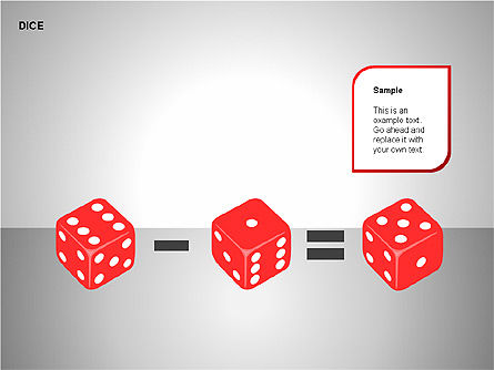 Free Dice Shapes Collection, Slide 5, 00139, Shapes — PoweredTemplate.com