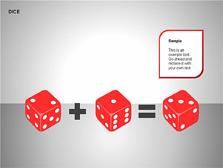 Free Dice Shapes Collection, Slide 7, 00139, Shapes — PoweredTemplate.com