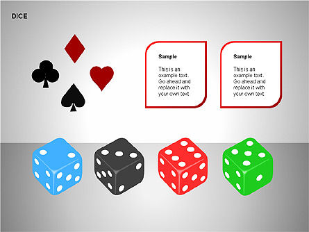 Free Dice Shapes Collection, Slide 8, 00139, Shapes — PoweredTemplate.com