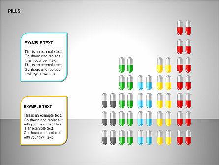 Pills Shapes Collection, Slide 13, 00140, Shapes — PoweredTemplate.com