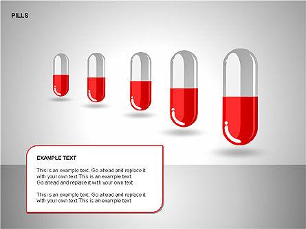 Pills Shapes Collection, Slide 7, 00140, Shapes — PoweredTemplate.com