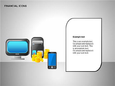 Financial Results Icons, Slide 10, 00141, Icons — PoweredTemplate.com