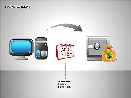 Financial Results Icons, Slide 14, 00141, Icons — PoweredTemplate.com