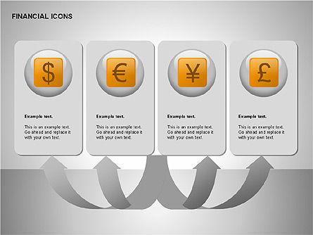 Financial Results Icons, Slide 15, 00141, Icons — PoweredTemplate.com
