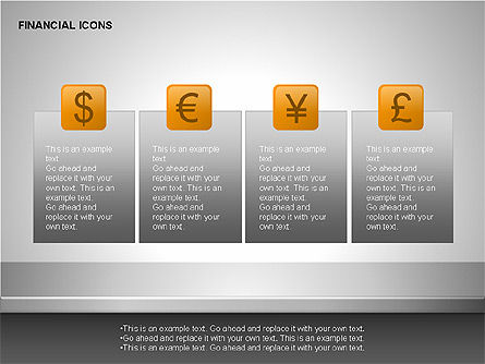 Financial Results Icons, Slide 3, 00141, Icons — PoweredTemplate.com