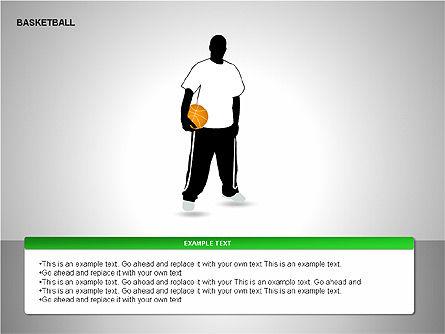 Basketball Shapes, Slide 10, 00142, Shapes — PoweredTemplate.com