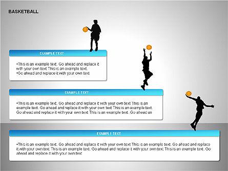 Basketball Shapes, Slide 11, 00142, Shapes — PoweredTemplate.com