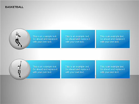 Basketball Shapes, Slide 13, 00142, Shapes — PoweredTemplate.com