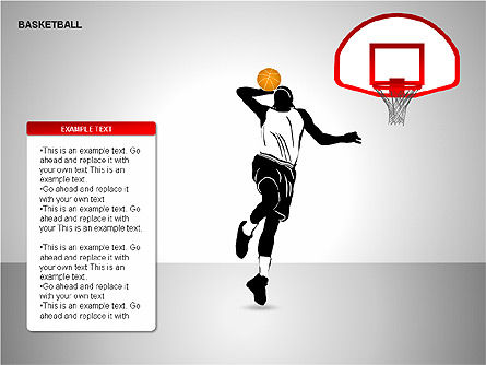 Basketball Shapes, Slide 14, 00142, Shapes — PoweredTemplate.com
